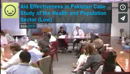 Aid Effectiveness in Pakistan: Case Study of the Health and Population Sector